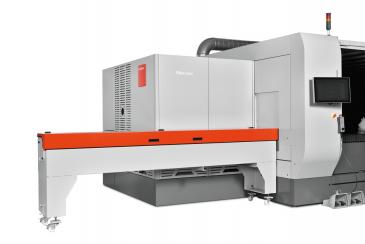 ByStar 10 kW Fiber Laser Cutter with optional integrated rotary axis.
