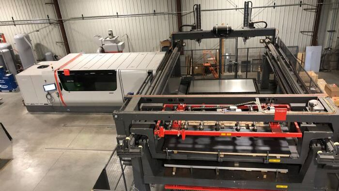 Part Sorting/Stacking Highlights New Automated Laser Line