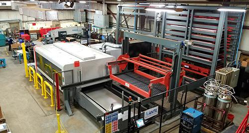 A new Fiber laser cutting machine and material storage/handling unit enable Decimal Engineering to replace as well as complement some stamping operations.