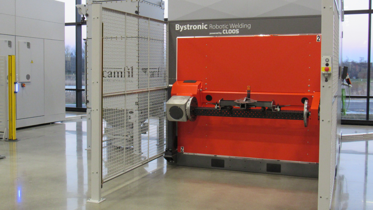 "Bystronic Robotic Welding Cell powered by CLOOS: The Customized ""Ready to Weld"" Solution for Automated Robotic Welding."