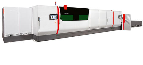 The larger format ByStar Fiber XL laser cutter accommodates material up to 8 feet wide.
