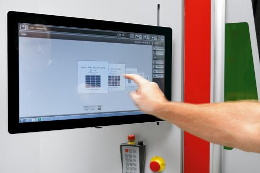Powerful Bystronic ByVision Cutting interface controls the entire manufacturing process with a few swipes of the finger.