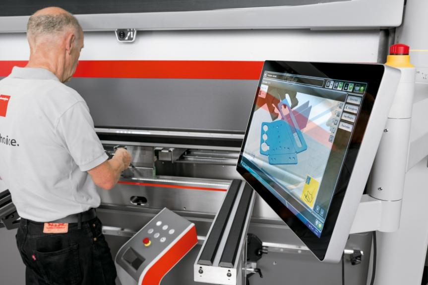 Figure 1. Modern press brakes provide operators with the assistance needed to maximize time spent bending, not setting up the press brake or methodically creating the program.
