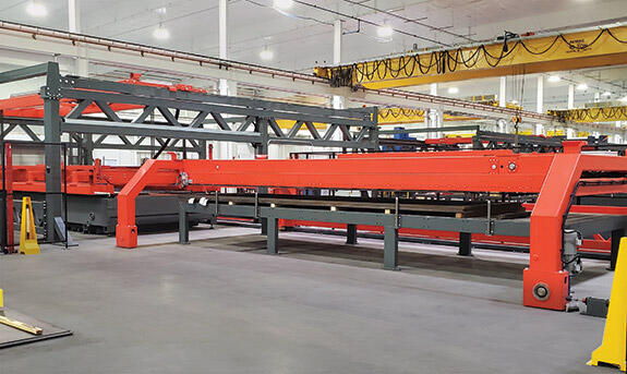 Largest loading table Bystronic has sold in the US.